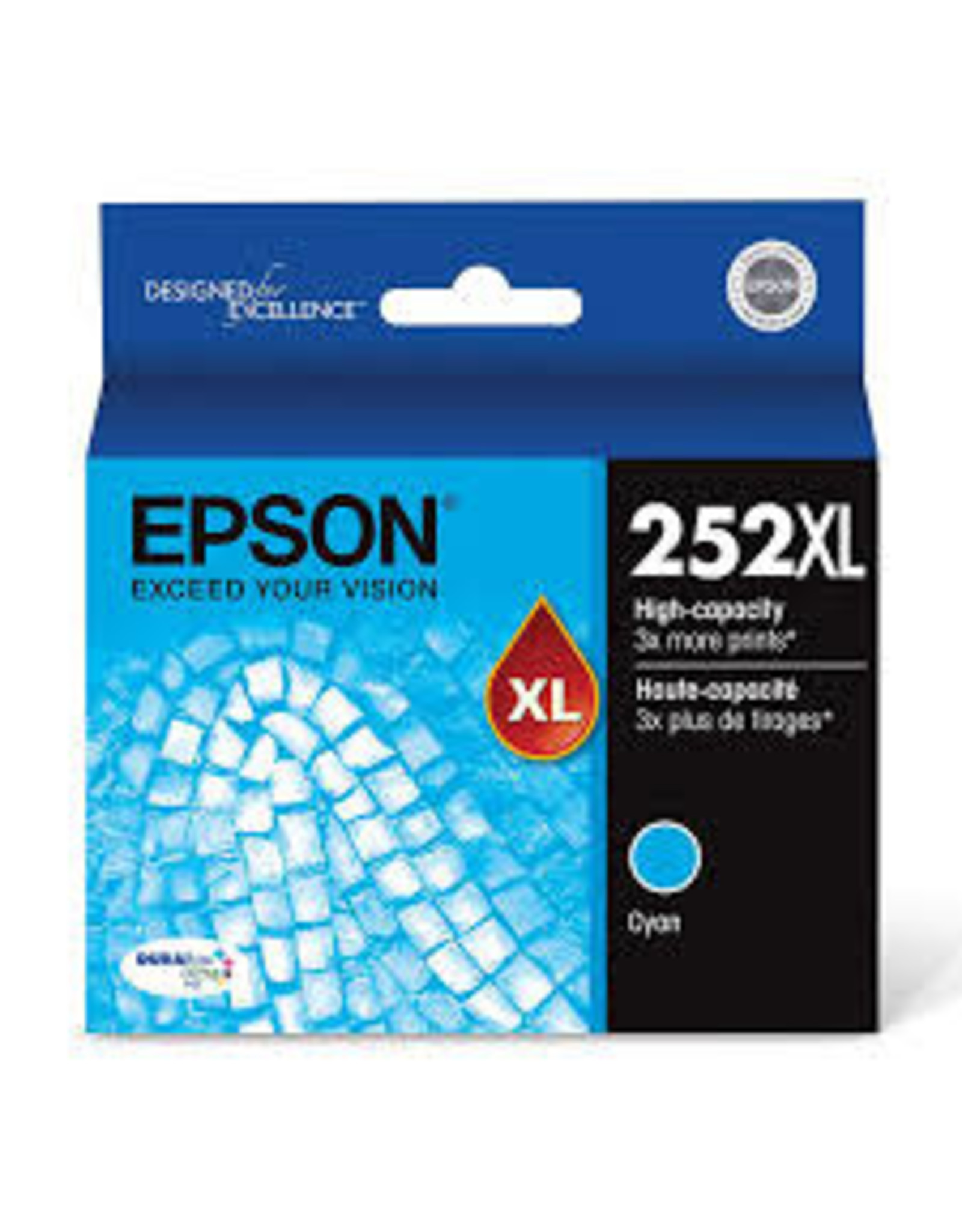 CARTRIDGE, EPSON 252XL CYAN.