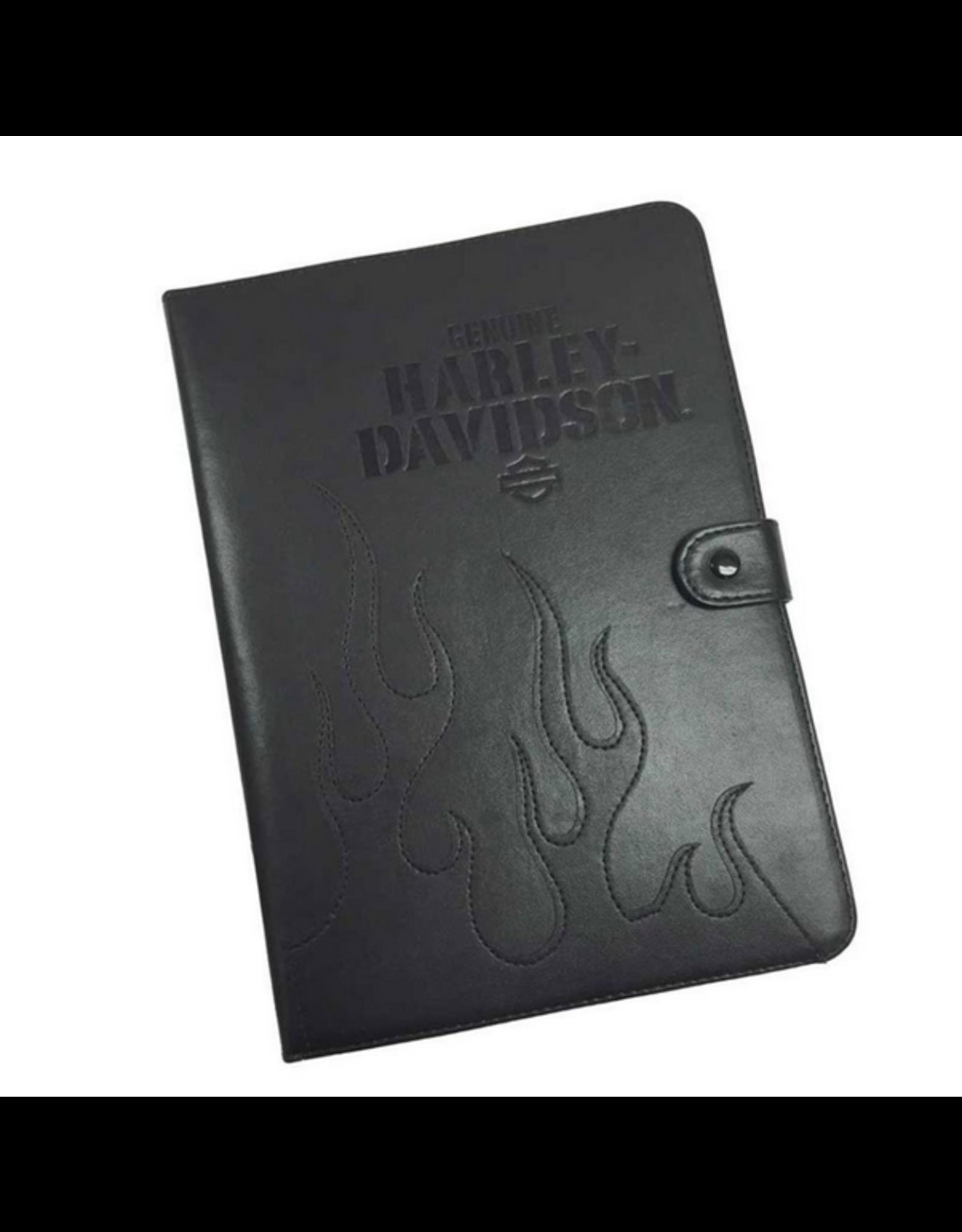 Harley Davidson Harley Davidson Universal 9-10 in Tablet Folio Black Leather SKU:50260
