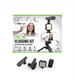 Digipower Digipower Vlogging Kit Like Me 4pc Mic/Tripod/LED/Mount SKU:50449