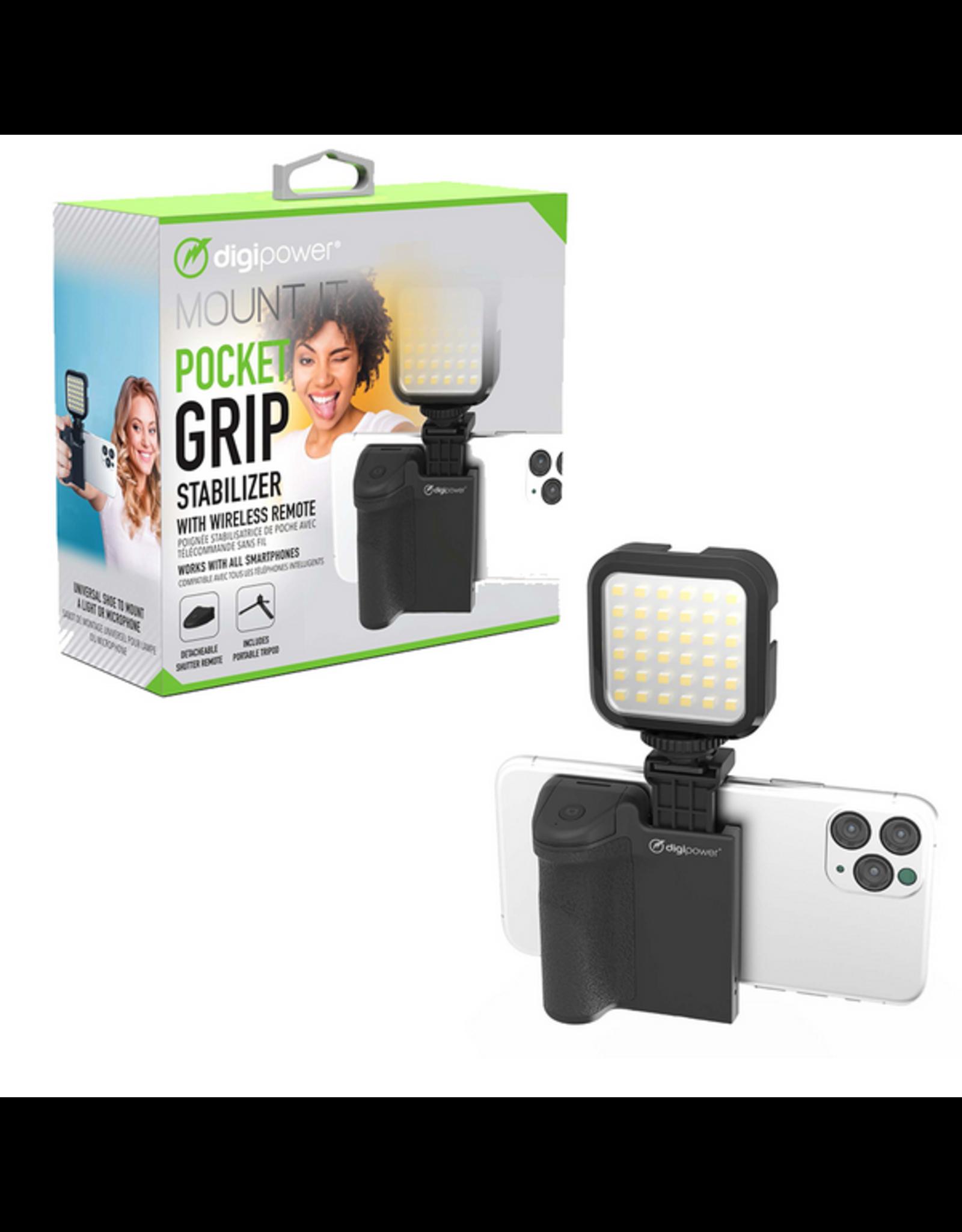 Digipower Digipower Vlogging Tripod Pocket Grip w/Wireless Remote SKU:50460