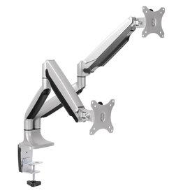 Horizon Furniture MONITOR ARM-DUAL, ACTIVERGO, EASILY ADJUSTABLE, SILVER