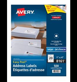 Avery LABELS-ADDRESS EASY PEEL WHITE 1X4 500/EV