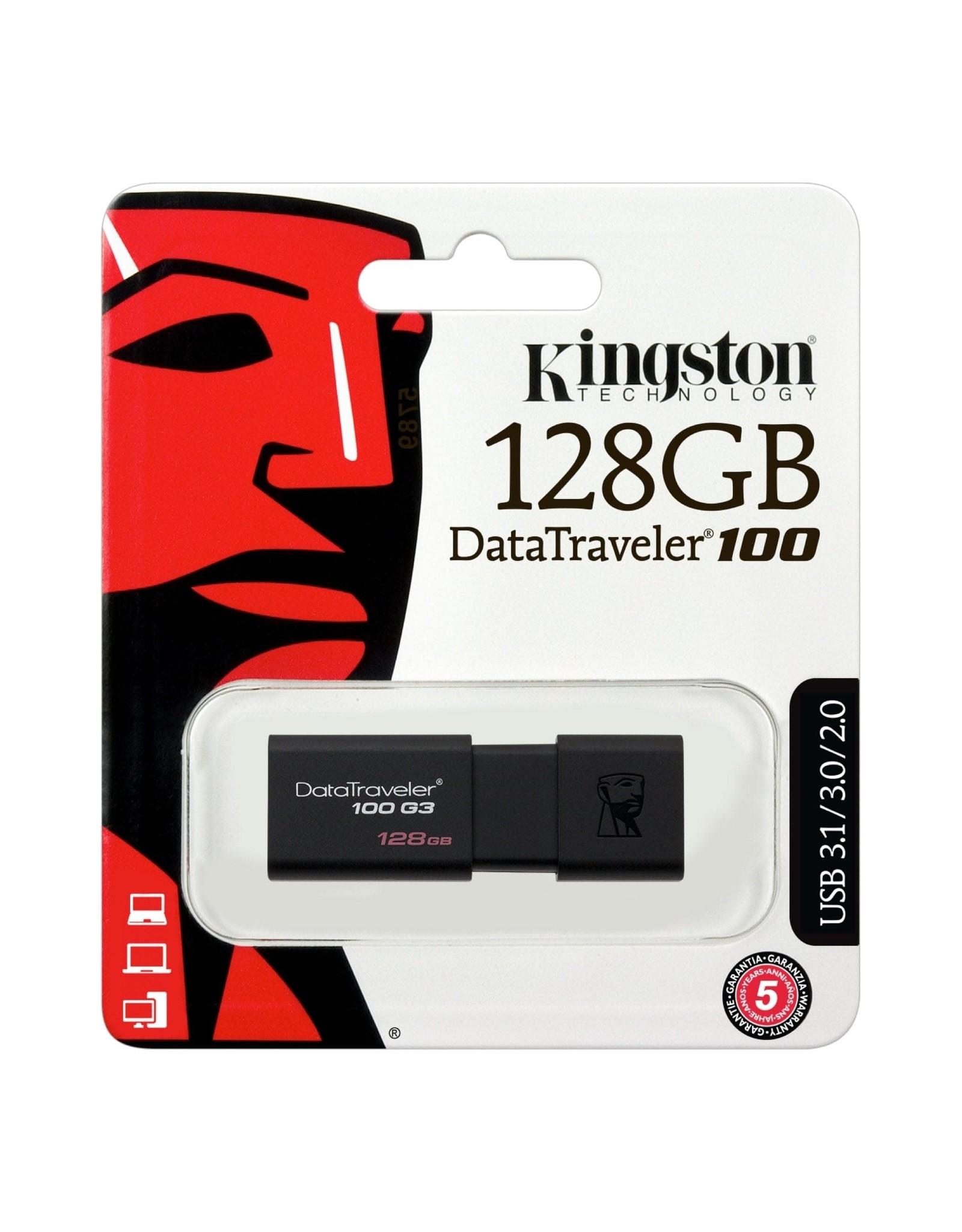 Kingston Technology Kingston Technology DataTraveler 100 G3 128GB USB 3.0 Drive