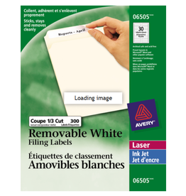 Avery LABELS-FILE FOLDER REMOVABLE 3-7/16X2/3 WHITE 300/EV