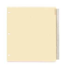 TOPS Products INDEX DIVIDERS-INSERTABLE, LETTER, 8 TAB CLEAR