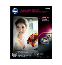 HP PAPER-HP PREMIUM PLUS GLOSSY, 8.5X11 50/PACK