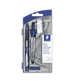 STAEDTLER MATH SET-9 PIECE, MATH/GEO SCHOOL KIT