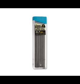 Pentel LEADS-HI-POLYMER SUPER .7MM HB, 30 LEADS/TUBE