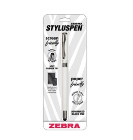 Zebra Pen STYLUS PEN-Z-1000 CAPPED 1.0MM BALLPOINT BLACK/BLACK INK