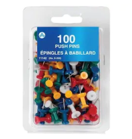 Acme United Acme Push Pins Multi Colour 100/pack