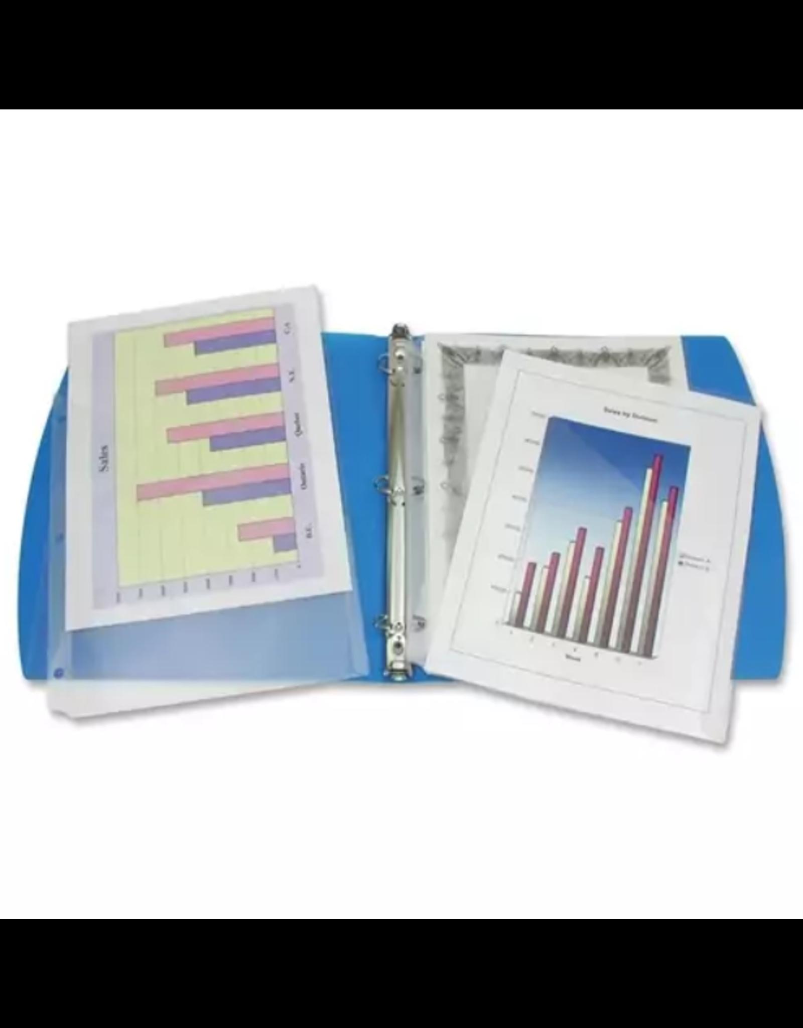 Winnable Enterprises BINDER POCKET-SLANT LETTER CLEAR, 5/PACK