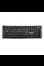 Azio Azio Keyboard Retro Bluetooth GUNMETAL Black Leather Aluminum SKU:50136