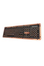 Azio Azio Keyboard Retro Bluetooth ARTISAN Black Leather/CopperTrim