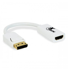 Xtech Xtech Adapter Display Port Male to HDMI Female White SKU:49437