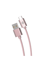 iEssentials iEssentials 10ft Charge & Sync Cable USB-C to A Braided Rose Gold SKU:49067