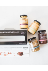 Smak Dab Foods Ltd. Smak Dab Gourmet Mustard, Black Flavour Pack 4x125mL