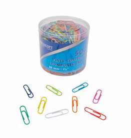 Acme United PAPER CLIPS-VINYL 33MM 500/TUB