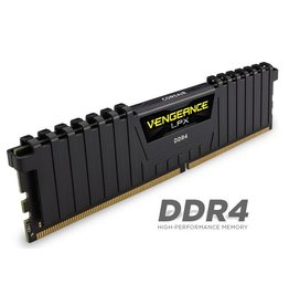 Corsair Corsair Vengeance LPX 16GB DDR4 DRAM 3200MHz C16 Memory Kit, Black
