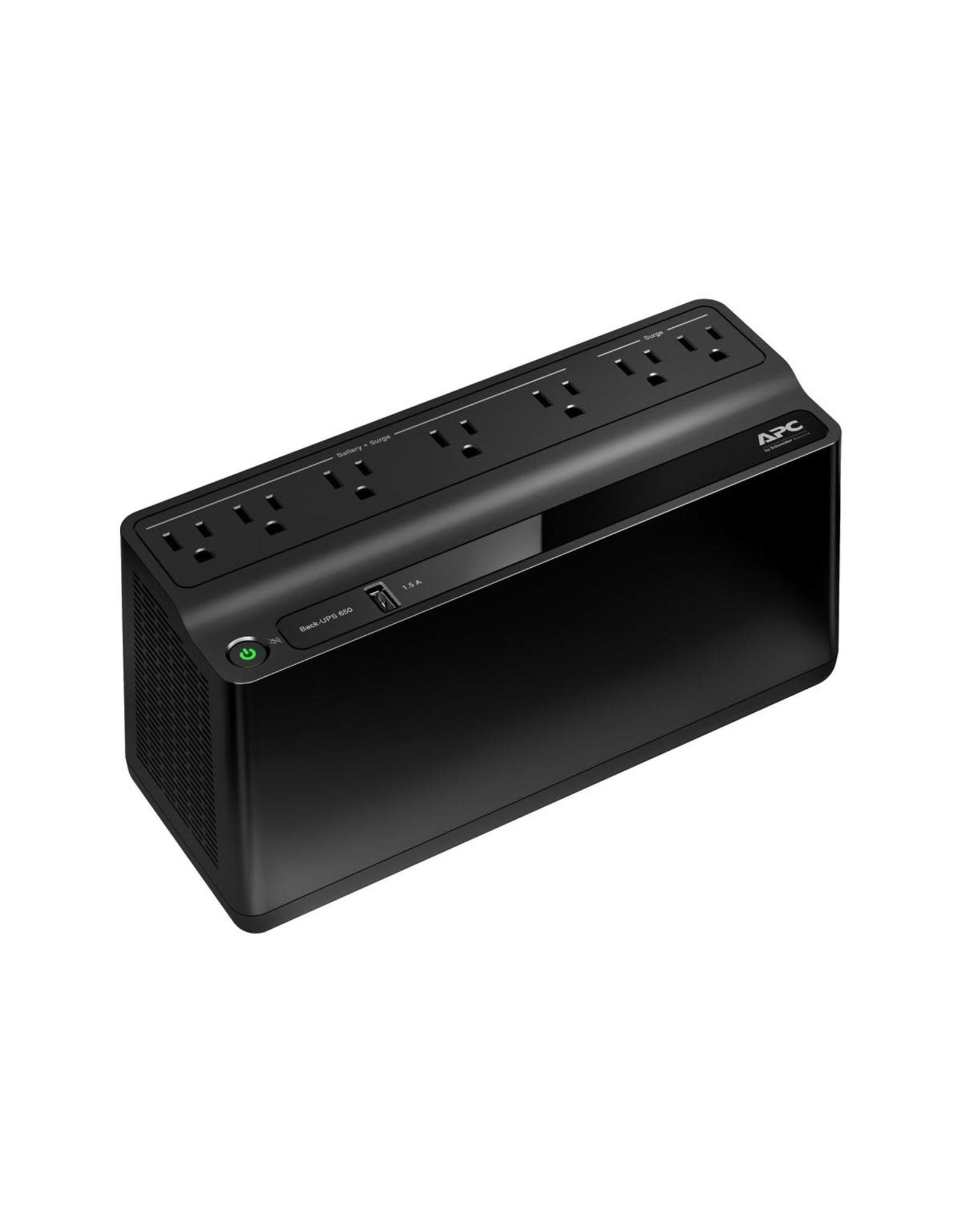 APC APC Back-UPS 7 Outlet 650VA 120V 1 USB Charging Port