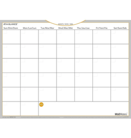 "At-A-Glance At-A-Glance WallMates Self-Adhesive Dry Erase Monthly Calendar, Bilingual, 24"" x 18"""