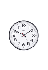 "ACCO Brands CLOCK-12"" ROUND, 12 HOUR WHITE DIAL/BLACK RIM"