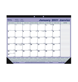 Blueline CALENDAR PAD-DESK MONTHLY 21-1/4X16 BILINGUAL  2021