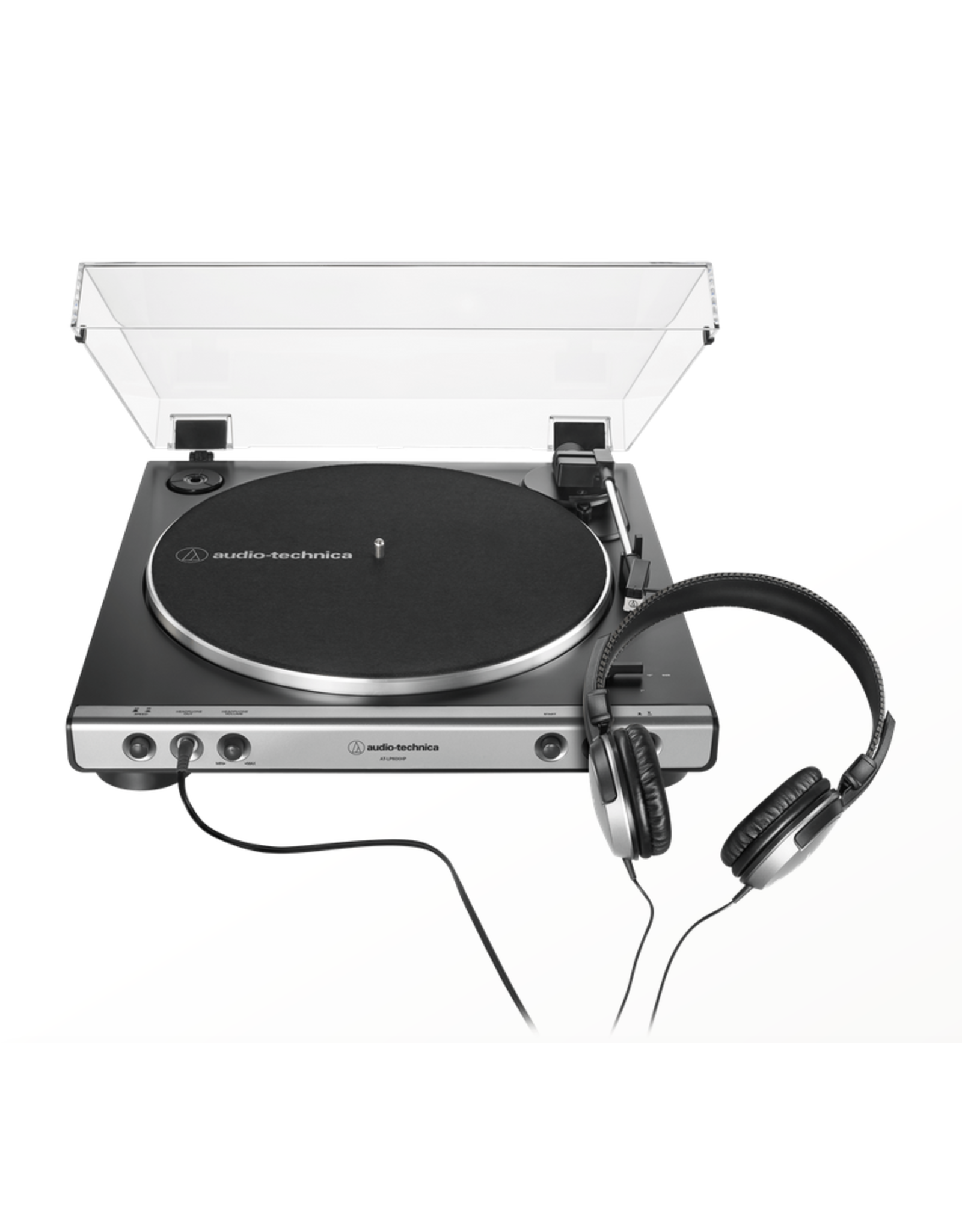 Audio-Technica Audio-Technica AT-LP60XHP Fully Automatic Belt-Drive Turntable with ATH-250AV Headphones