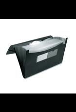 Winnable Enterprises FILE-EXPANDING, 13 POCKET POLY, 10X15, WITH INDEX TABS,BLACK