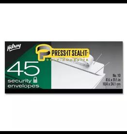 Hilroy ENVELOPE-PRESS-IT SEAL-IT #10 SECURITY, 45/BOX