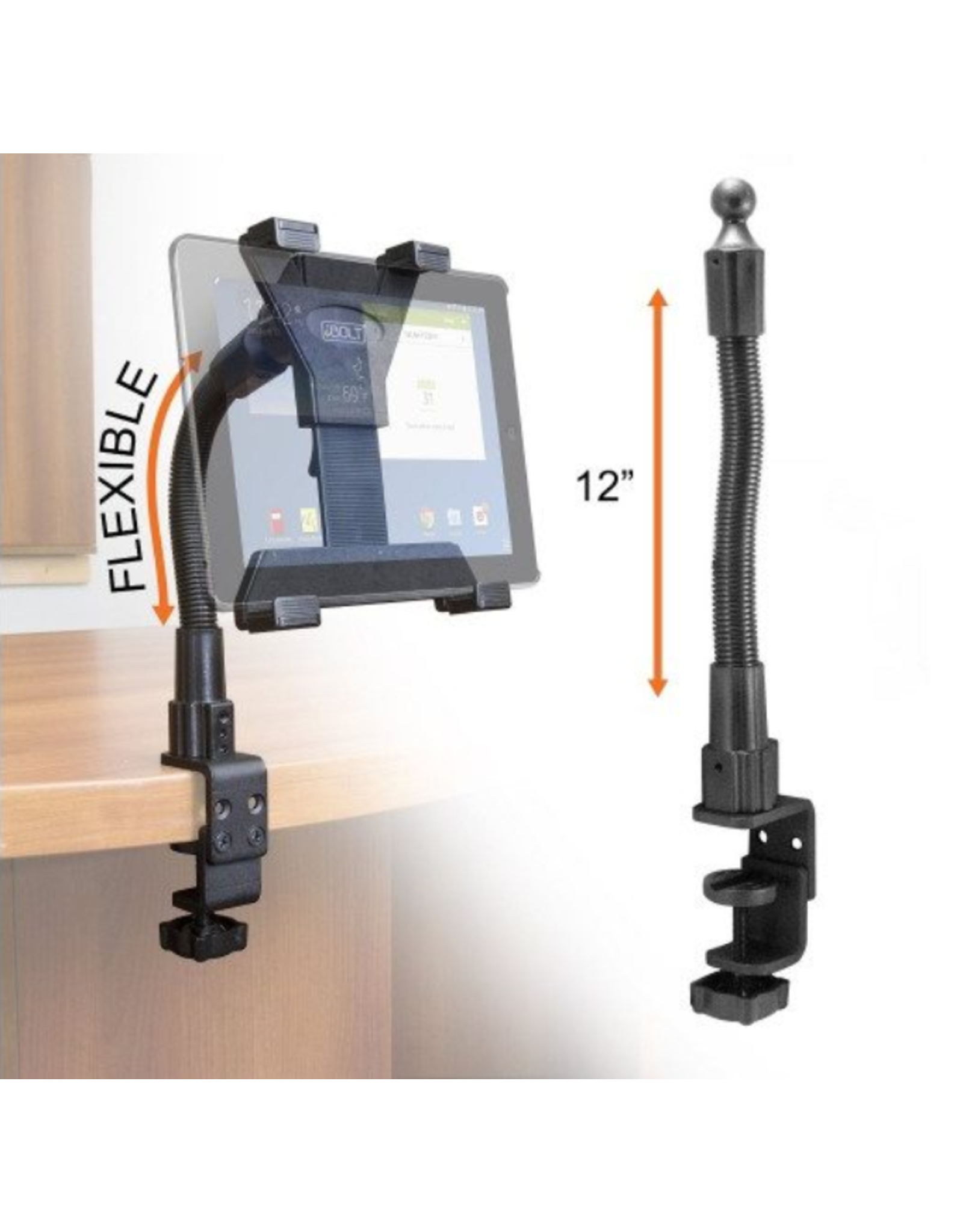 iBolt iBOLT Tablet Holder 7-10in TabDock FlexPro Clamp SKU:49835