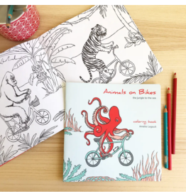 Amelie Legault Amelie Legault Animals on Bikes From the Jungle to the Sea Coloring Book