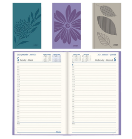 Dominion Blueline Inc. PLANNER-DAILY, HARD 8X5  ASSORTED BILINGUAL  2021