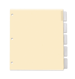 TOPS Products INDEX DIVIDERS-INSERTABLE, LETTER, 5 TAB CLEAR