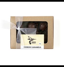 Hummingbird Chocolate Hummingbird Chocolate, Dark Milk Vodkow Caramels, 6/box