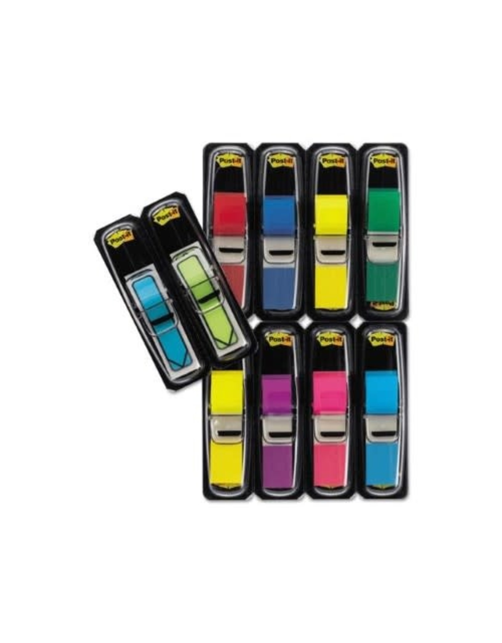 Post-it FLAGS-POST-IT, 1/2'' X 1-3/4'' ASSORTED COLOURS, BONUS PACK