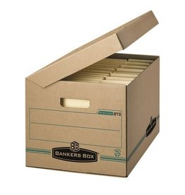 Fellowes FILE BOX-ENVIRO STOR, LETTER/LEGAL, WITH ATTACHED LID KRAFT