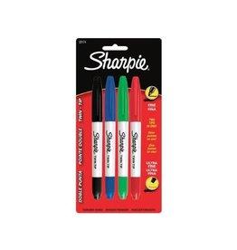 Sharpie MARKER SET-PERMANENT, SHARPIE TWIN TIP, 4 COLOURS