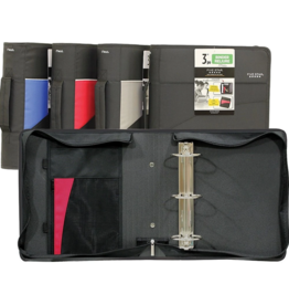 Hilroy BINDER-ZIPPERED, FIVE STAR, 3'' D-RING, ASSORTED COLOURS