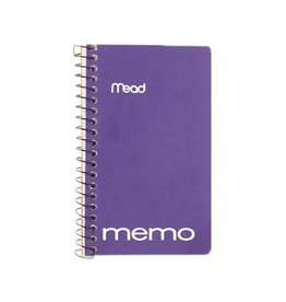 Hilroy MEMO BOOK-COIL, OPEN SIDE 5X3 60 SHEET ASSORTED