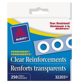 Avery REINFORCEMENTS-PERMANENT CLEAR MYLAR 250/BOX