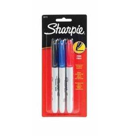 Sharpie MARKER SET-PERMANENT, SHARPIE FINE, 3 COLOURS