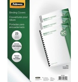 Fellowes BINDING COVER-CLEAR LETTER ROUND CORNER 100/PACK