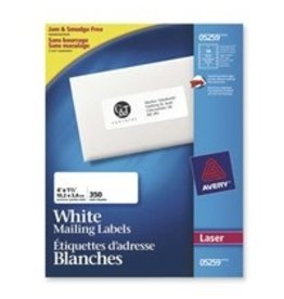 Avery LABELS-ADDRESS WHITE 1-1/2X4 350/EV