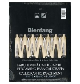Speedball Art CALLIGRAPHY PARCHMENT PAPER 8.5X11, BIENFANG #207, WHITE