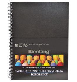 Bienfang SKETCH BOOK-HARDCOVER 9X12, BIENFANG, 75 SHT