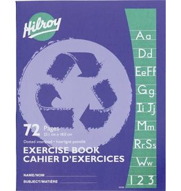 Hilroy EXERCISE BOOK-STITCHED 9-1/8X7-1/8 INTERLINE WITH MARGIN