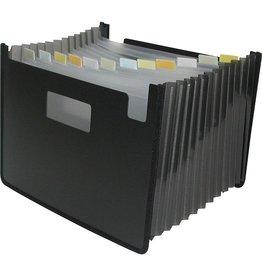 Winnable Enterprises FILE-EXPANDING, 13 POCKET POLY, LETTER, BLACK