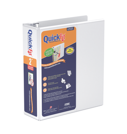 Davis Group BINDER-5-1/2X8-1/2 QUICKFIT HD JUNIOR 2'' ROUND, WHITE