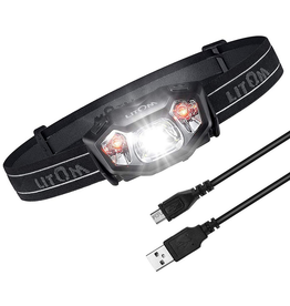 Litom Litom Super Bright Rechargeable LED Headlamp IPX6 Waterproof with 6 Lighting Modes