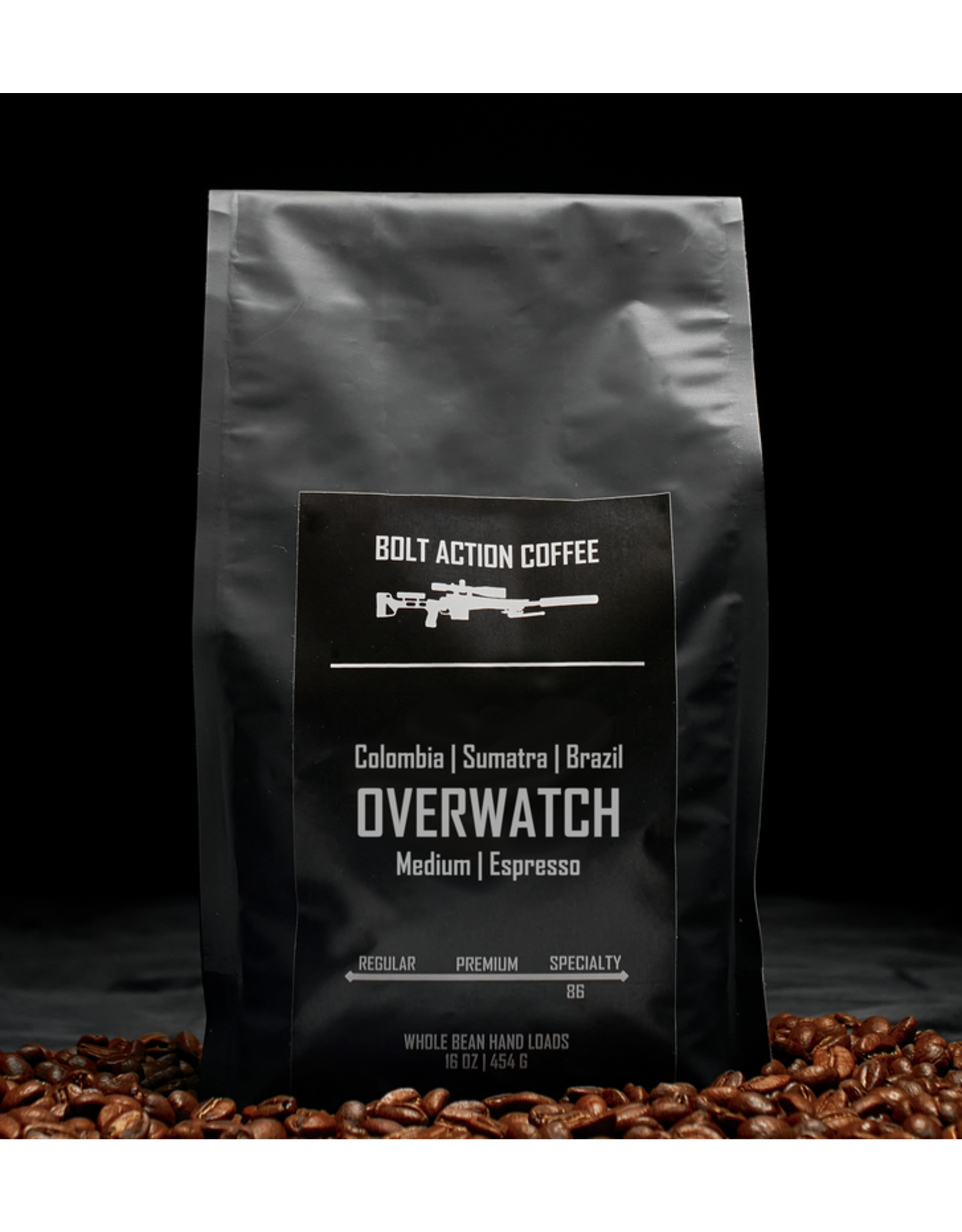 Bolt Action Coffee Bolt Action Coffee, Overwatch 1 lb